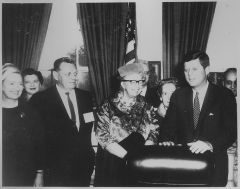 Eleanor Roosevelt and John F. Kennedy (President's Commission on the Status of Women)