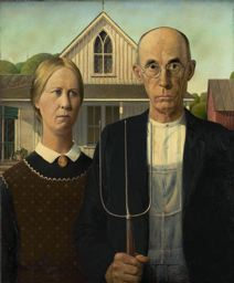 1930 Grant Wood (1891 - 1942). American Gothic. The Art Institute of Chicago.