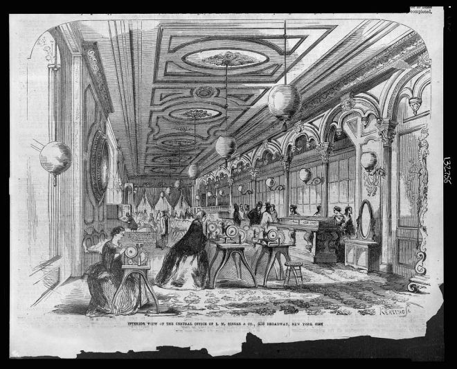 Interior of I.M. Singer and Co., 1857