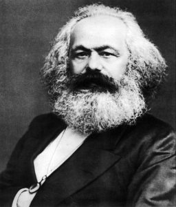 Portrait of Karl Marx taken in 1875.